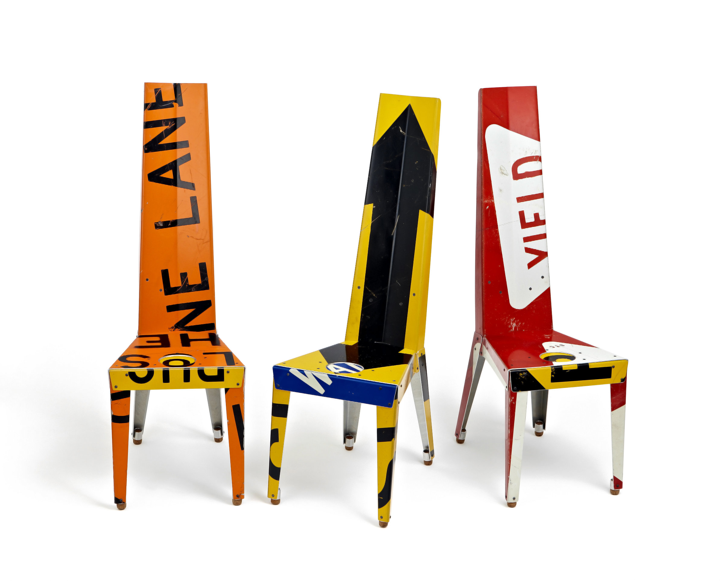 Transit Chair By Boris Bally Recycled Metal Chair