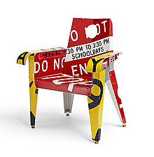 BroadWay Armchair by Boris Bally (Recycled Metal Chair)