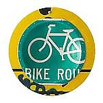 Green Bicycle Platter by Boris Bally (Metal Wall Art)