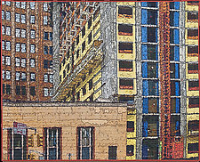 Soft City-Canal Street Construction by Marilyn Henrion (Fiber Wall Hanging)
