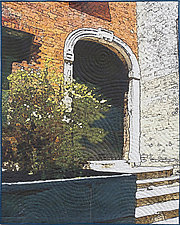 Soft City-Archway by Marilyn Henrion (Fiber Wall Hanging)