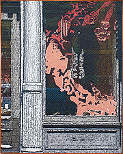 Soft City-Red Dragon by Marilyn Henrion (Fiber Wall Hanging)