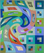 Disturbances 6 by Marilyn Henrion (Fiber Wall Hanging)