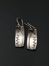 Echoes Rectangle Dangle by Tavia Brown (Silver Earrings)
