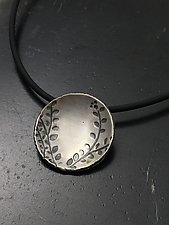 Echoes Large Circle Pendant by Tavia Brown (Silver Necklace)