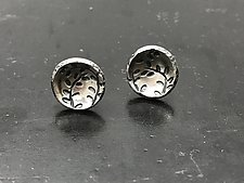 Echoes Circle Studs by Tavia Brown (Silver Earrings)