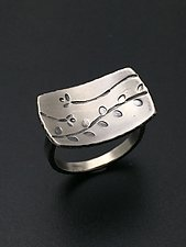 Echoes Rectangle Ring by Tavia Brown (Silver Ring)
