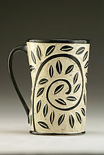 Vine and Leaf Mug by Jennifer  Falter (Ceramic Mug)