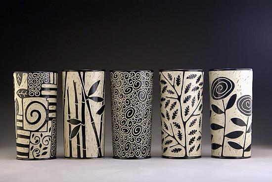 Cylinder Vases By Jennifer Falter Ceramic Vessel Artful Home