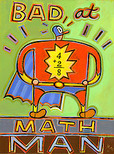Bad at Math Man by Hal Mayforth (Giclee Print)