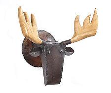 Moose in the Woods by Ben Gatski and Kate Gatski (Metal Sculpture)