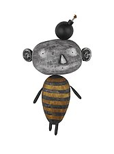 MoonBee with Idea by Bruce Chapin (Wood Wall Art)