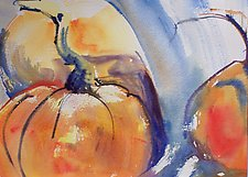Pumpkins by Alix Travis (Watercolor Painting)