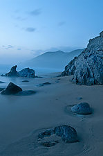 Blue Beach by Lori Pond (Color Photograph)