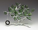 Summertime Tree by Bandhu Scott Dunham (Art Glass Sculpture)