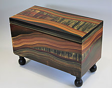 Painted River Trunk by Ingela Noren and Daniel  Grant (Painted Wood Chest)