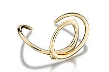 Alexandra Cuff bracelet by Britt Anderson (Gold Bracelet)