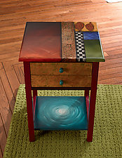 Two-Drawer End Table by Wendy Grossman (Wood Side Table)