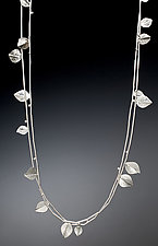 Sterling Silver Leaf Necklace by Ken Loeber and Dona Look (Silver Necklace)