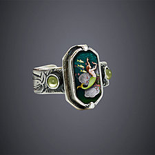 Dance of the Kelpies Ring by Dawn Estrin (Silver Ring)