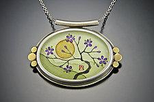 Plum Blossom Necklace by Ananda Khalsa (Gold Pendant)