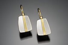 Little Stripe by Tom McGurrin (Gold & Silver Earrings)