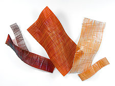 Autumn: Wall Sculpture by Nina Falk (Art Glass Wall Art)