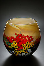 Landscape Series Limited Bowl Yellow Gold by Shawn Messenger (Art Glass Vase)