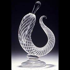 Sculptural Airtwist Perfume Bottle by Robert Burch (Art Glass Perfume Bottle)
