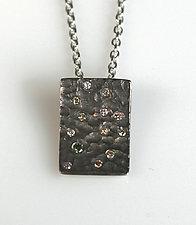 Pebble Pendant by Gillian Batcher (Silver & Diamond Pendant)