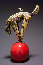 Play Ball by Cathy Broski (Ceramic Sculpture)