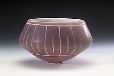 Porphory Bowl by Jacob Vincent (Art Glass Vessel)