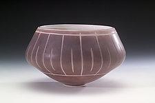 Porphory Bowl by Jacob Vincent (Art Glass Vessel)