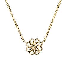 Gold Fleuron Necklace by Ellen Himic (Gold Necklace)