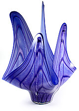 Pyroplasm: Aqua by Thomas Kelly (Art Glass Sculpture)