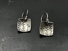 Echoes Square Dangles by Tavia Brown (Silver Earrings)