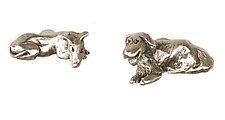 Resting Dog Knobs by Rosalie Sherman (Metal Knob)