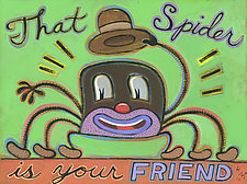That Spider Is Your Friend by Hal Mayforth (Giclee Print)