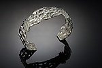 Woven Basket Cuff by Chi Cheng Lee (Silver Bracelet)