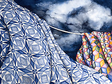 Tossed by the Sea Quilt by Helen Klebesadel (Giclée Print)