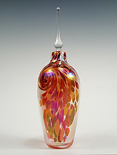 Li'l Flame Perfume Bottle by Mark Rosenbaum (Art Glass Perfume Bottle)