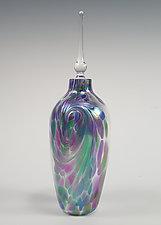 Li'l Flame Perfume Bottle by Mark Rosenbaum (Art Glass Perfume Bottle)