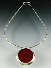 Rossa Necklace by Amy Faust (Silver & Glass Necklace)