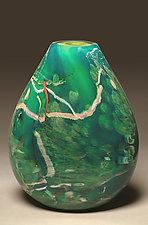 Atlantis Flat by Randi Solin (Art Glass Vessel)