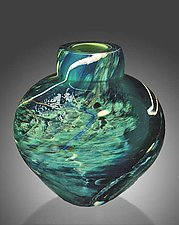 Atlantis Emperor Bowl by Randi Solin (Art Glass Vessel)