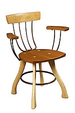 Pitchfork Armchair by Brad Smith (Wood Chair)