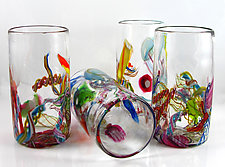 Cane-Fetti Tumblers by Michael Richardson, Justin Tarducci and Tim Underwood (Art Glass Drinkware)