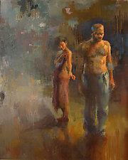 Reaching by Cathy Locke (Oil Painting)