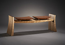 Flare by Brian Hubel (Wood Bench)