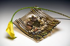 Bronze Ikebana by Alicia Kelemen (Art Glass Vessel)